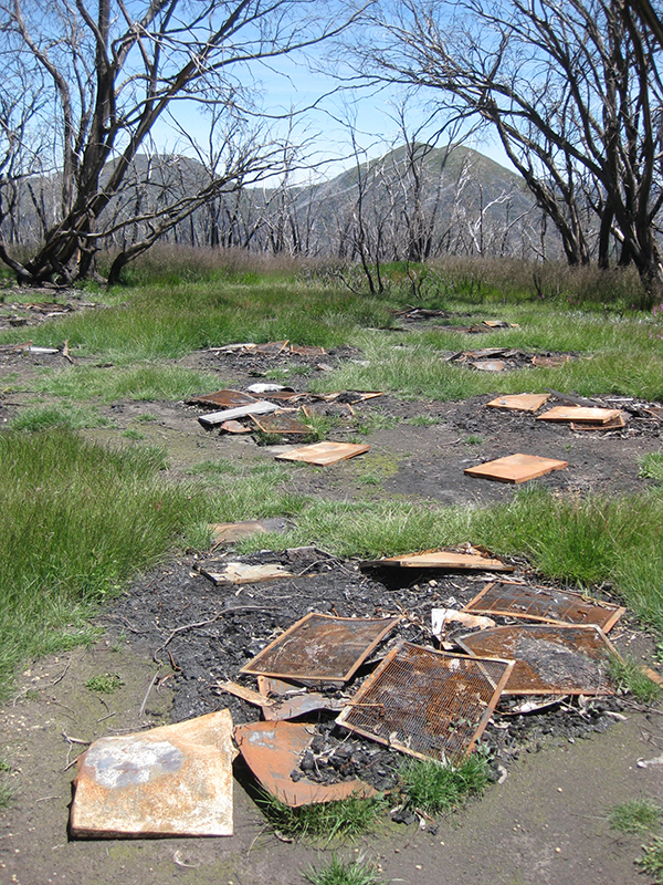 Photo of burned up grids and metal objects