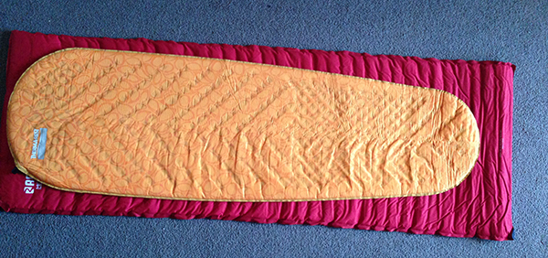 Old and new sleeping mats unrolled. The new one is only a bit smaller than the old.