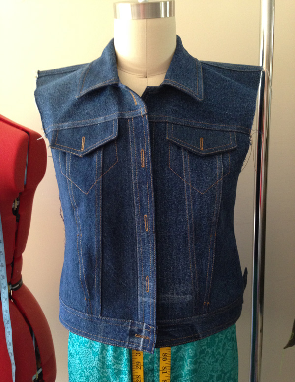 denim jacket with no sleeves