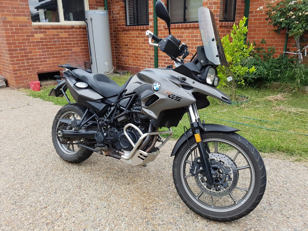 My BMW F700GS, all clean